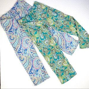 2 Pairs Vera Bradley Cotton Pajama Bottoms SZ M